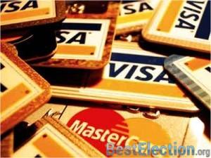 иллюстрация Дебетовые и кредитовые банковские карты