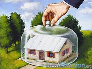 иллюстрация Страхование загородного деревянного дома